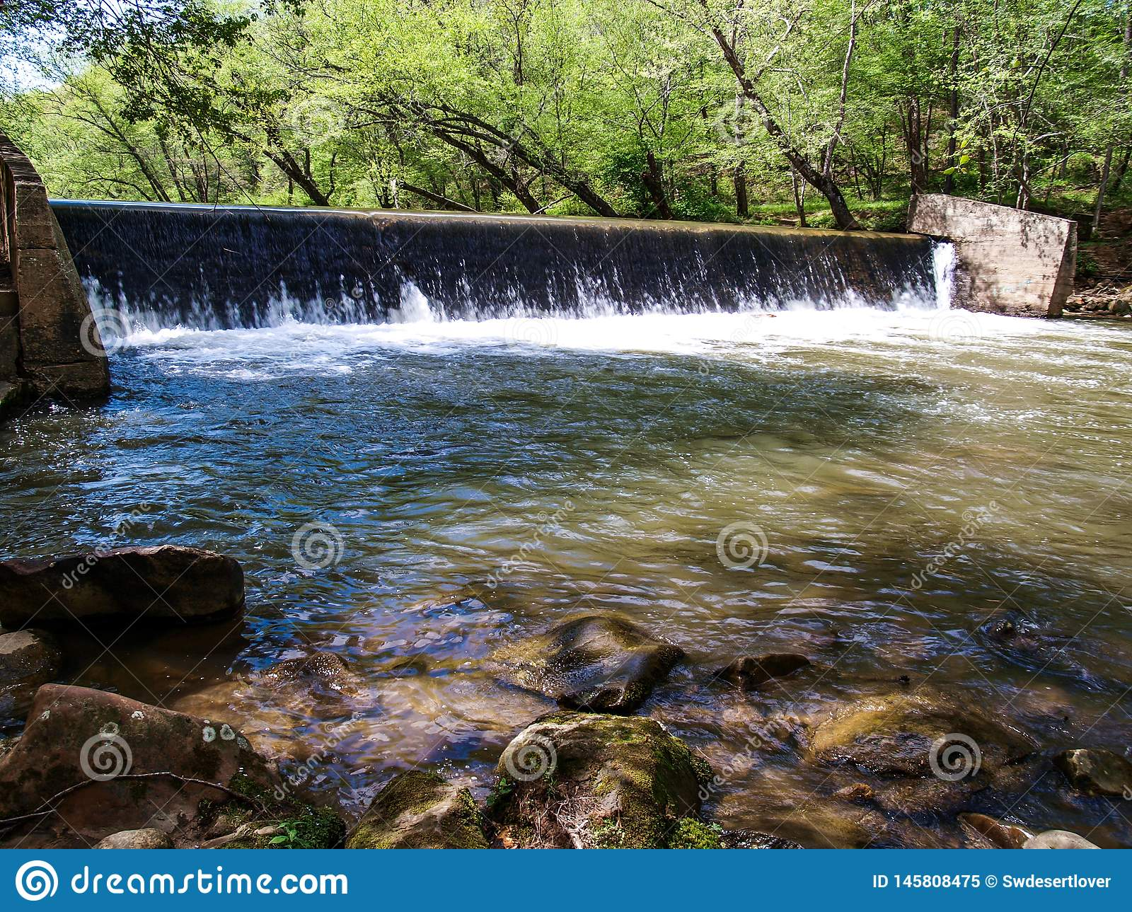 Verdammung auf Dan River in Collinstown, North Carolina