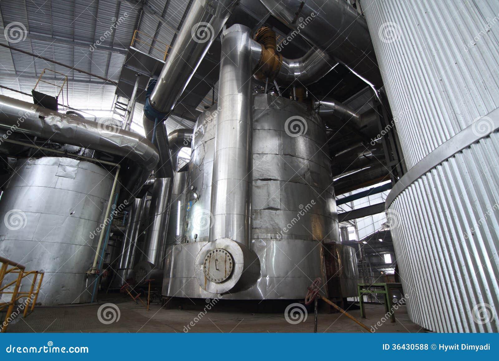 Verdampferbehälter in einer Zuckerraffinerie