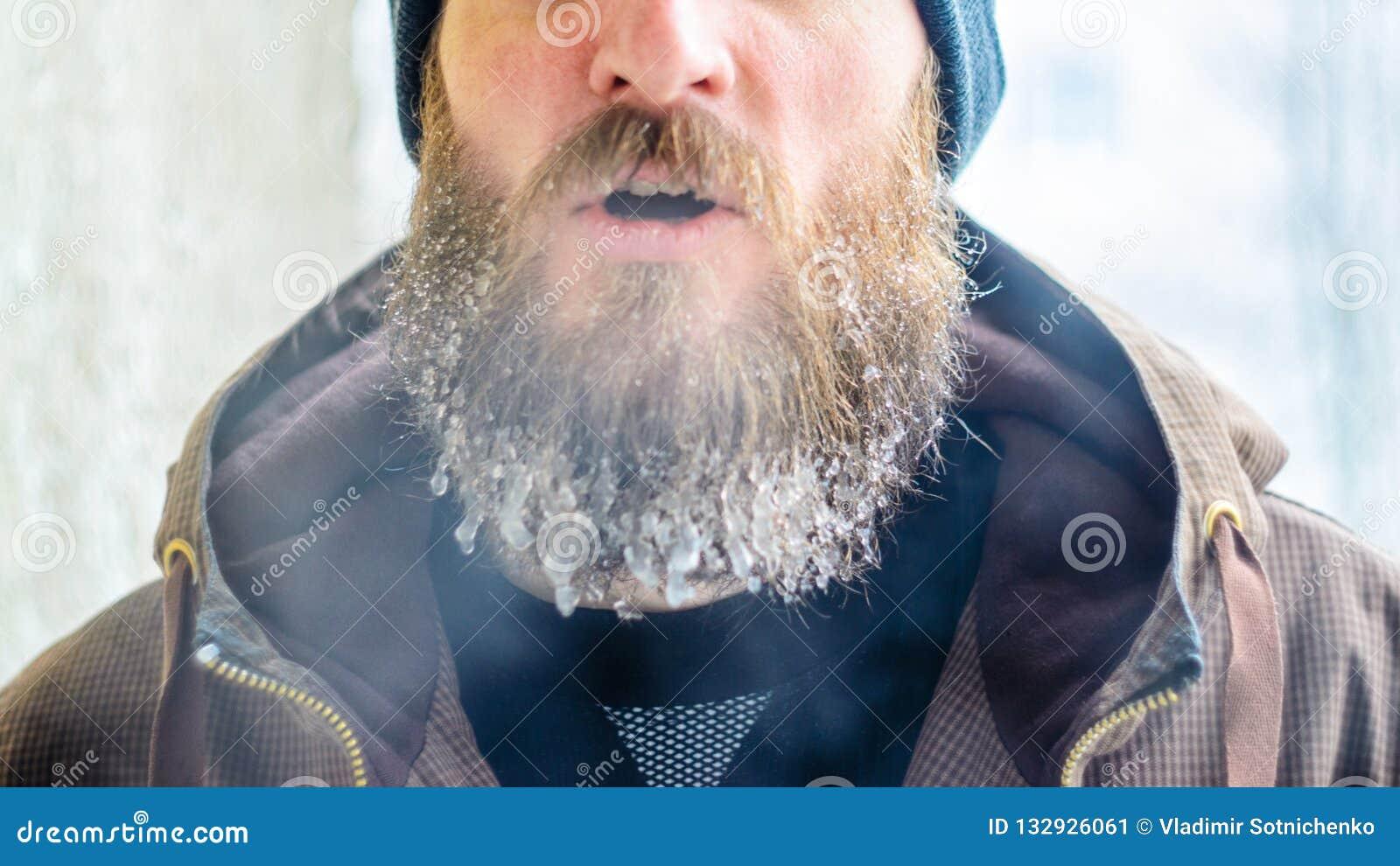 Verdamping van de mond in de winter