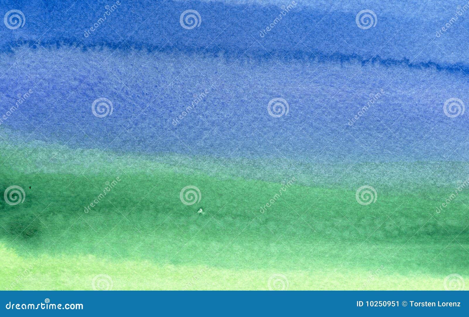 Verde alla priorità bassa blu dell acquerello