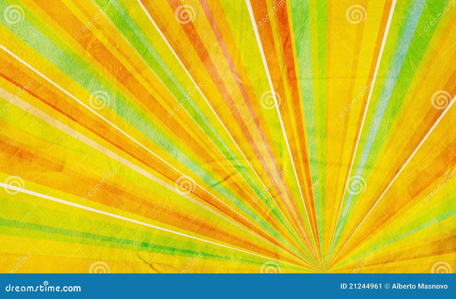 Verde Amarillo-naranja Del Fondo Abstracto Geométrico
