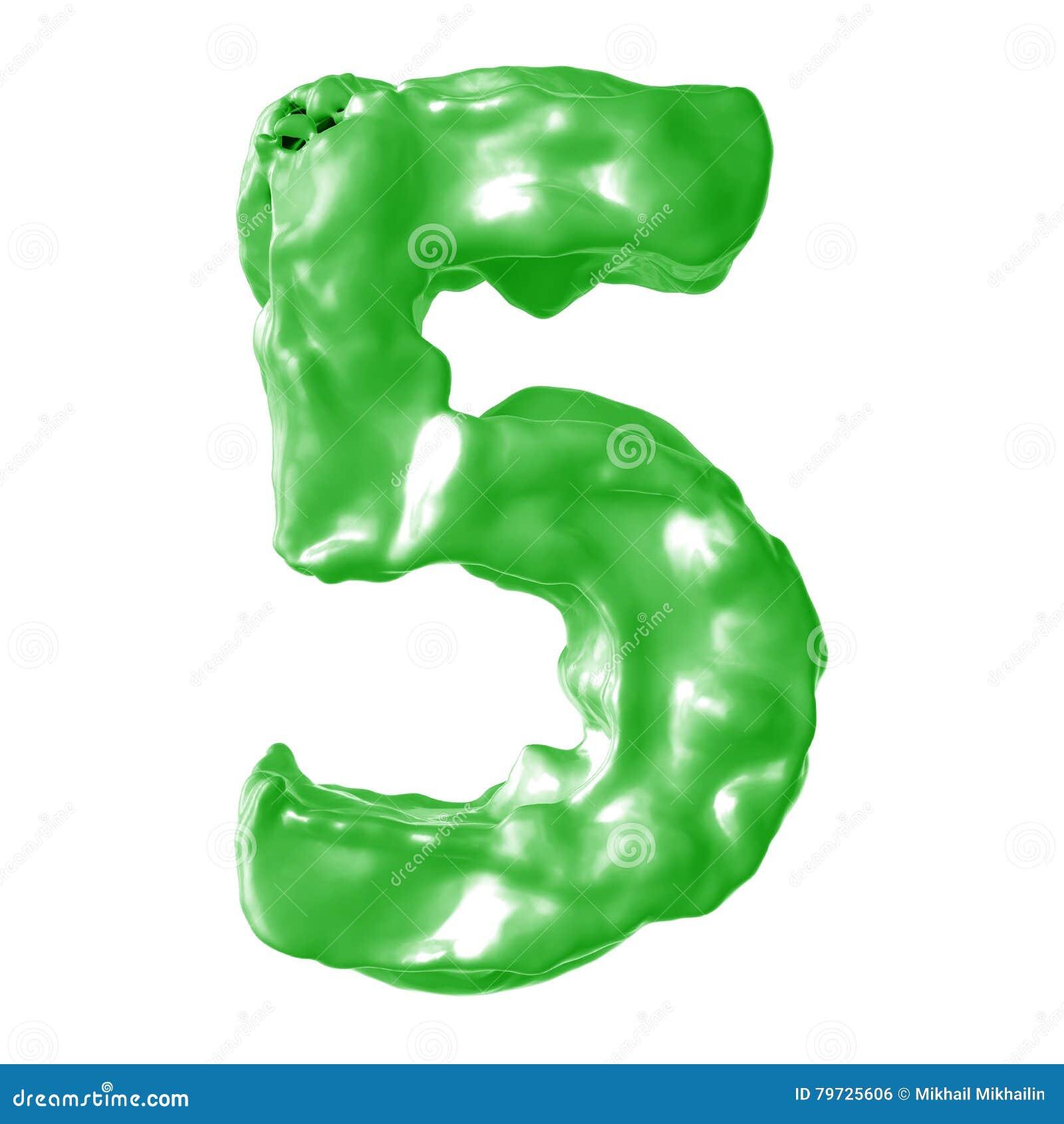 Verde de la leche del número 5