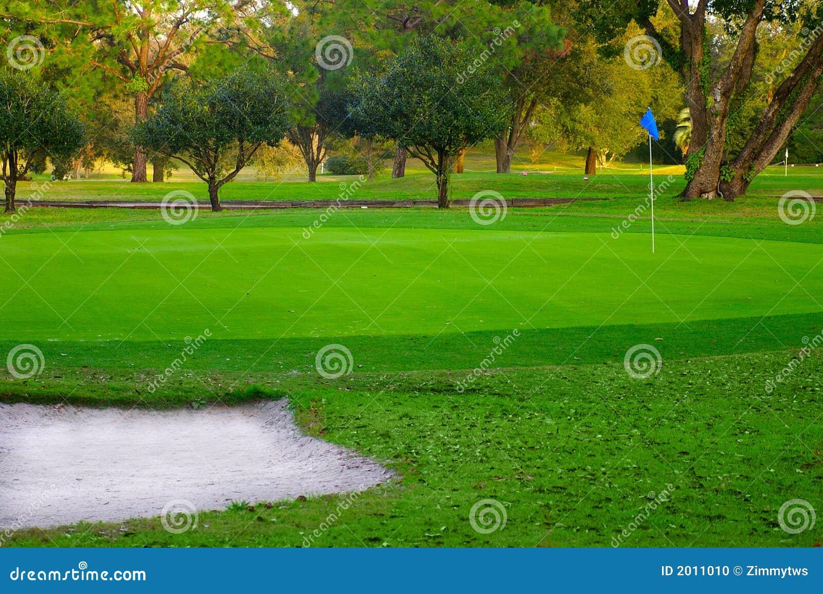 Verde del golf