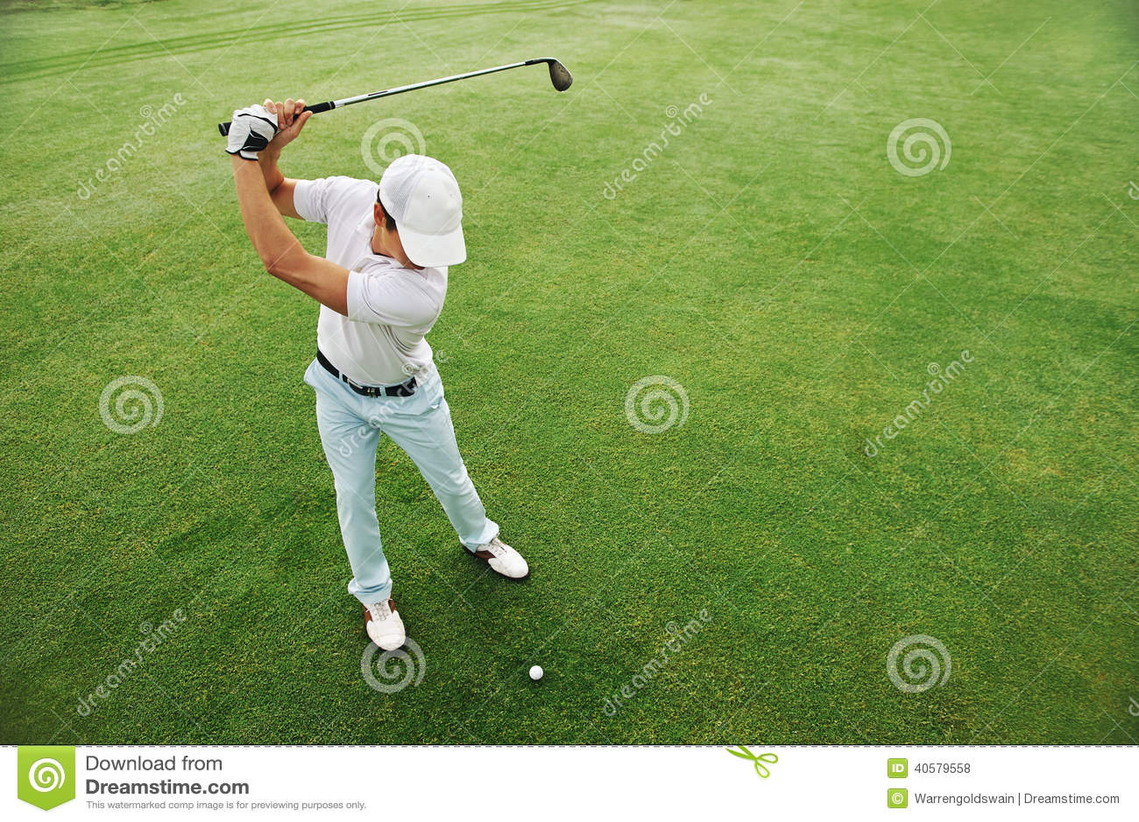 Verde del putt del golf