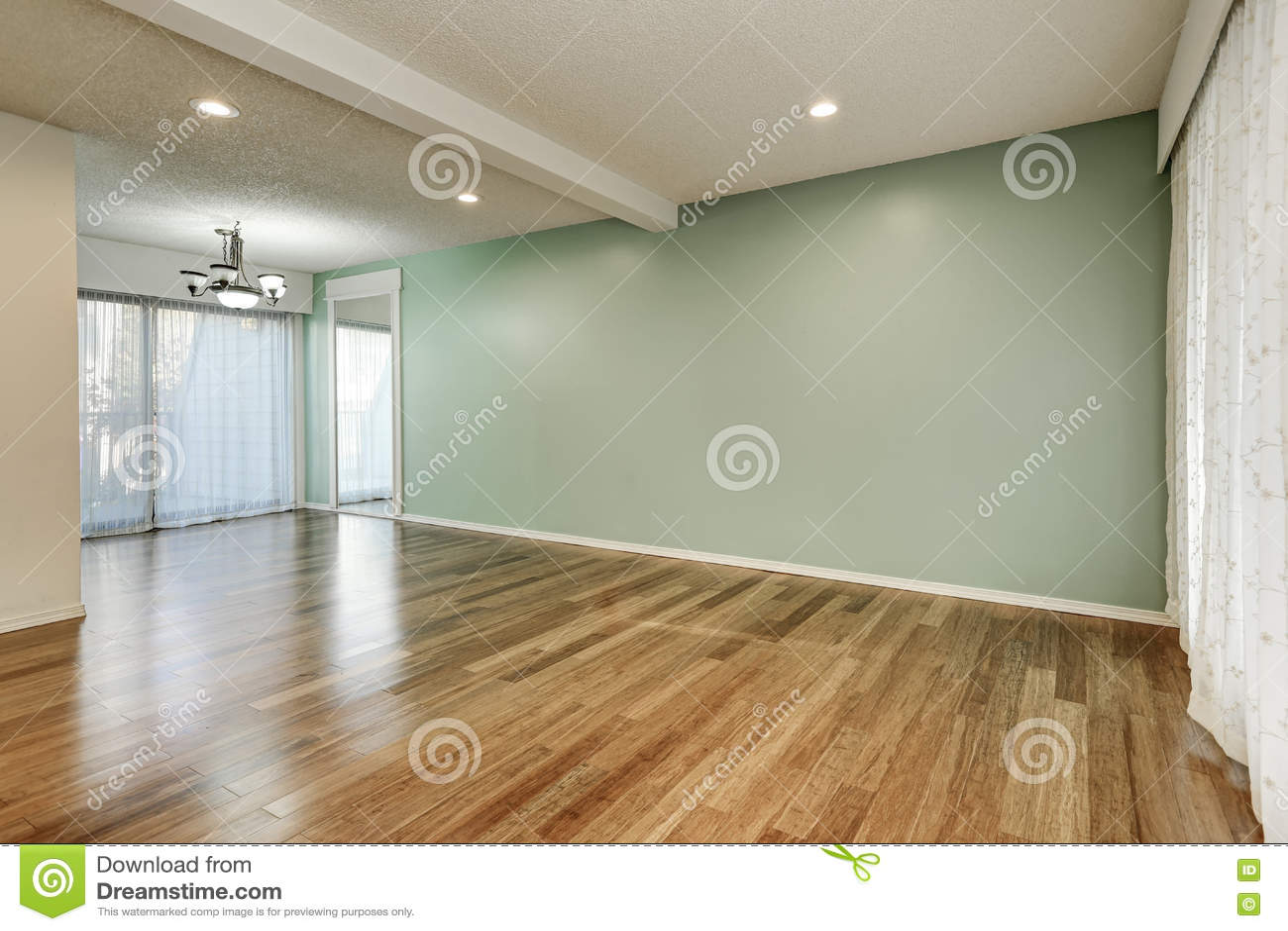 Verde e interior da hortelã da sala vazia
