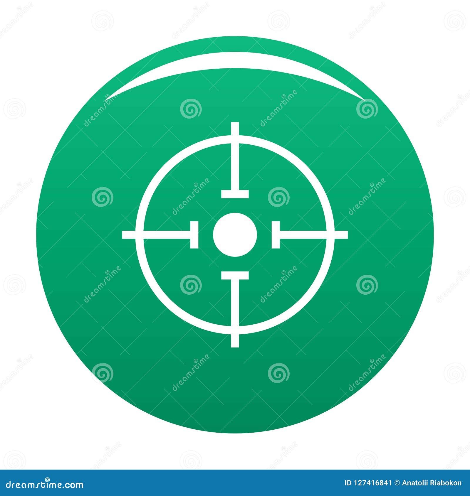 Verde importante del vector del icono de la blanco
