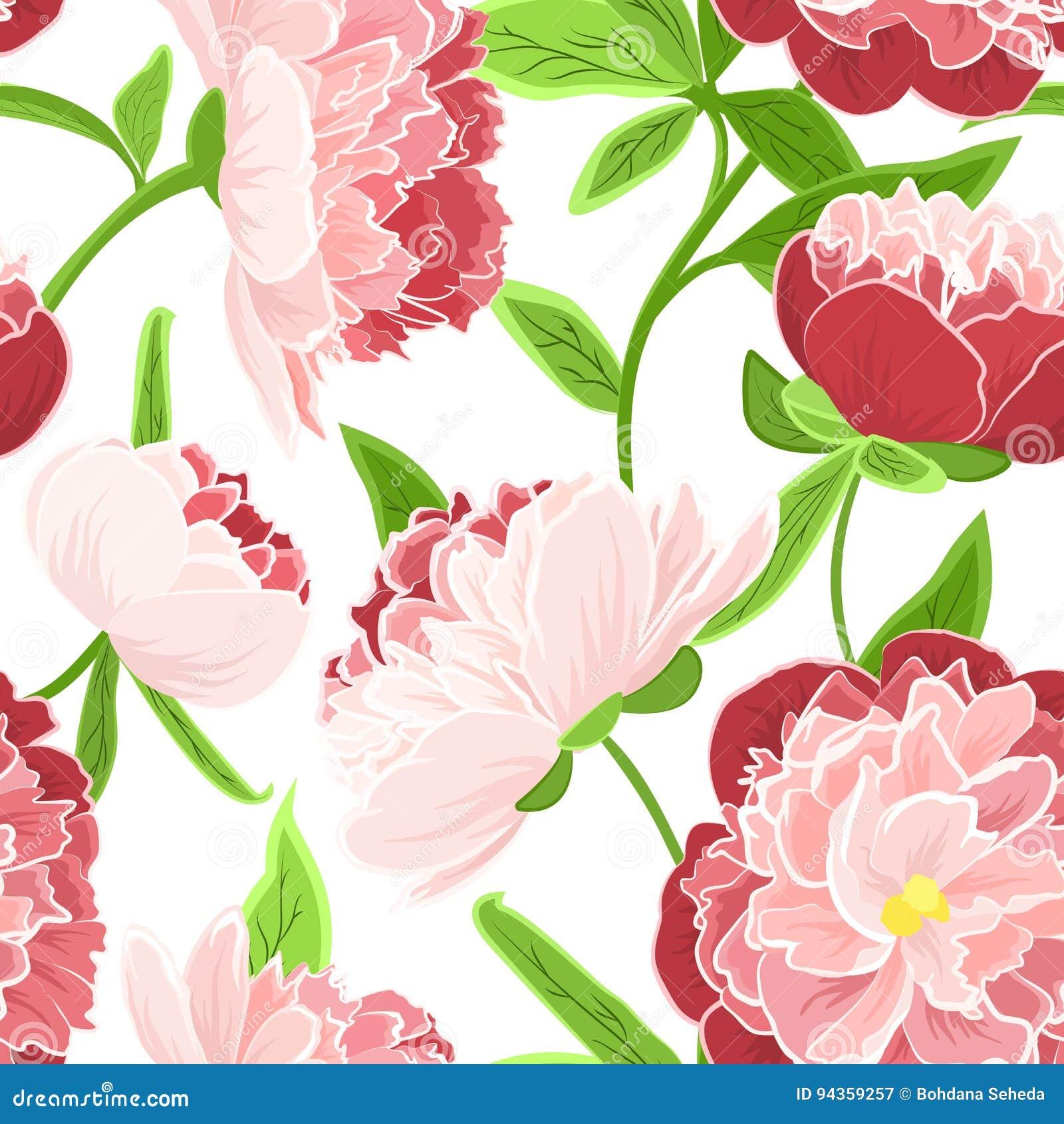 Verde Rosado Rojo Del Modelo Inconsutil Color De Rosa De Las Flores