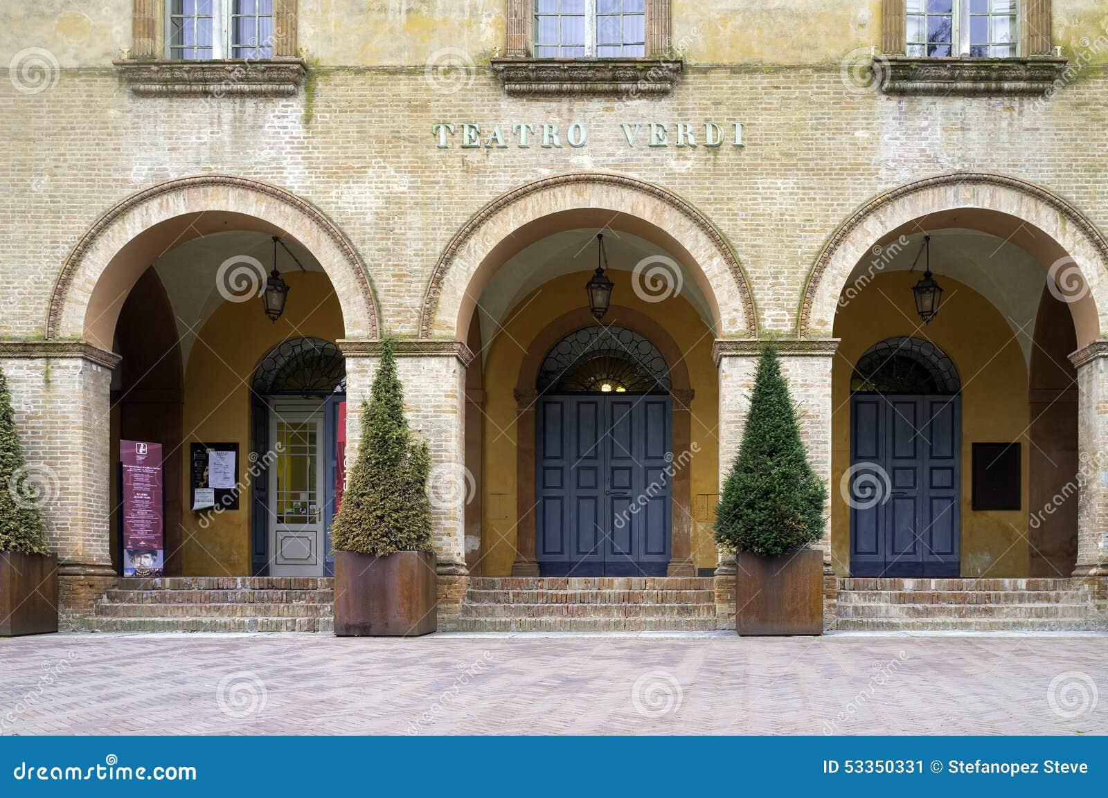Verdi theatre busseto color image editorial photo for Malvisi arredamenti busseto parma