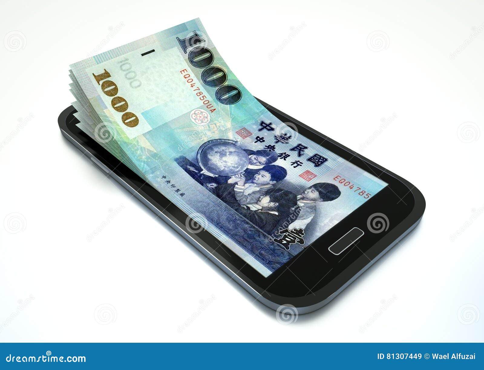 Verdienen des Geldes mit elektronischem Geschäftsverkehr unter Verwendung des Smartphone