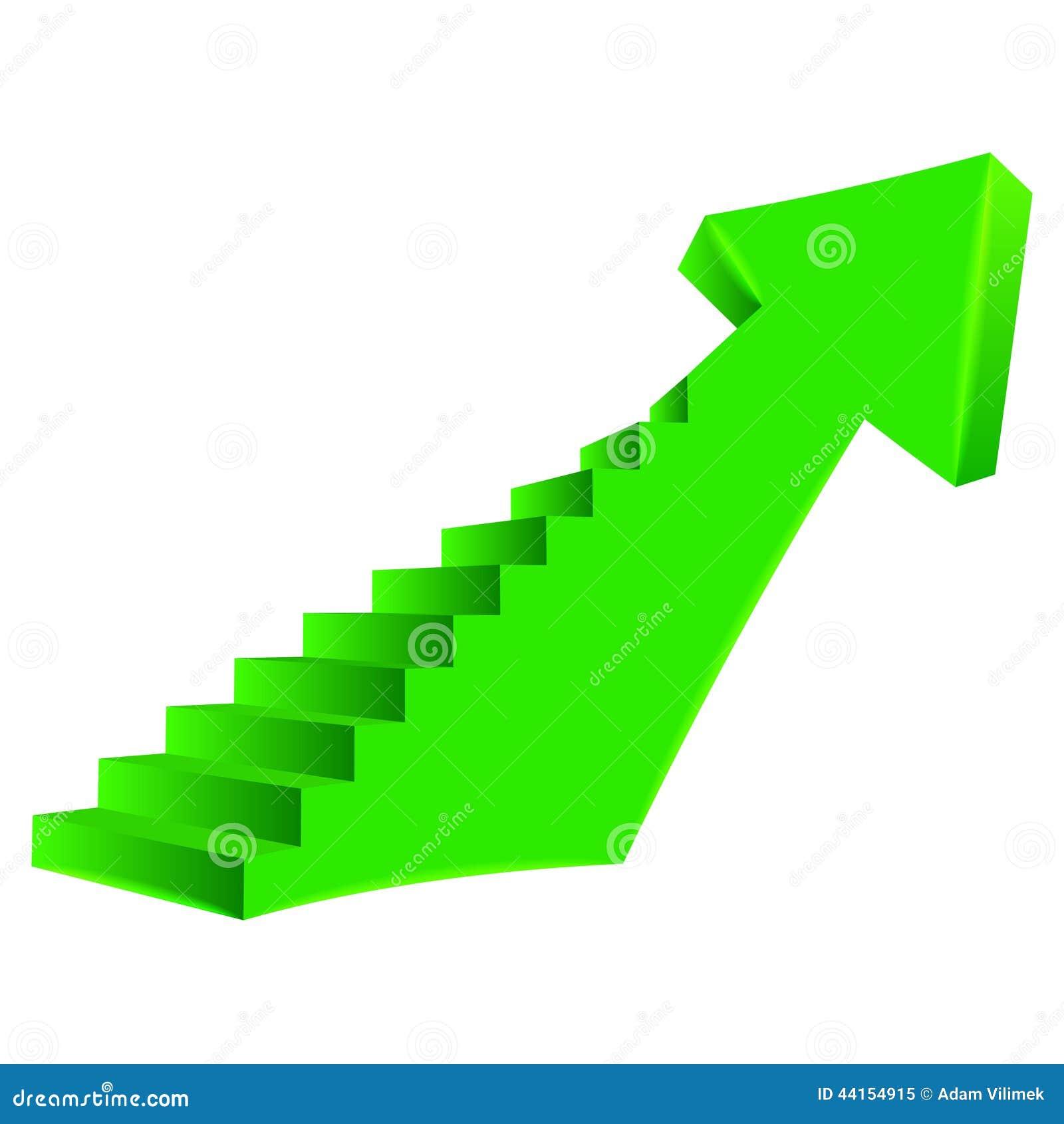 b2ad904caa1b47 Verdissez la flèche pliée vers le haut de la direction avec l escalier du  côté