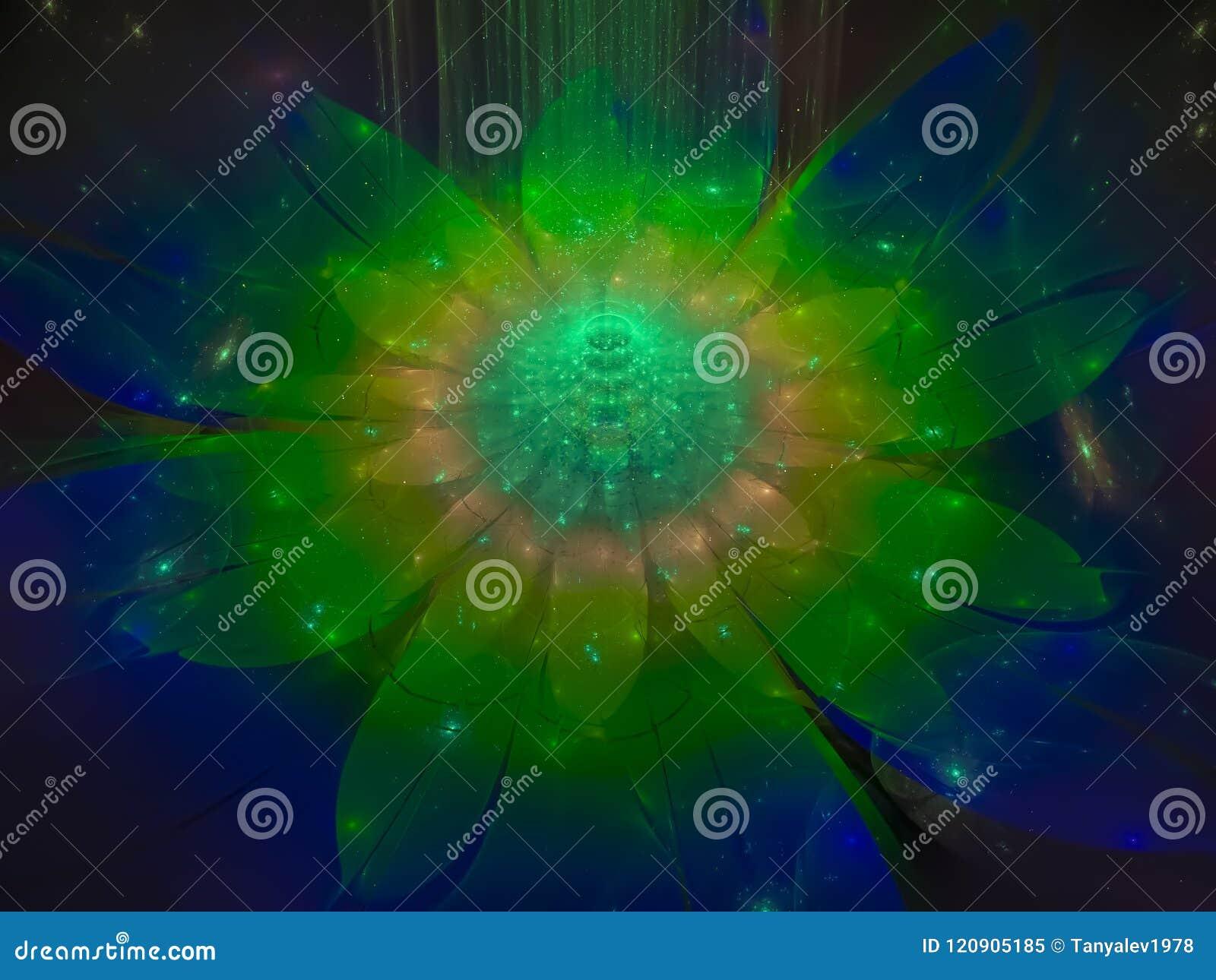 Verdrehte konzentrisches scharfes ätherisches Bildmuster des Fractalhintergrundes Konzept