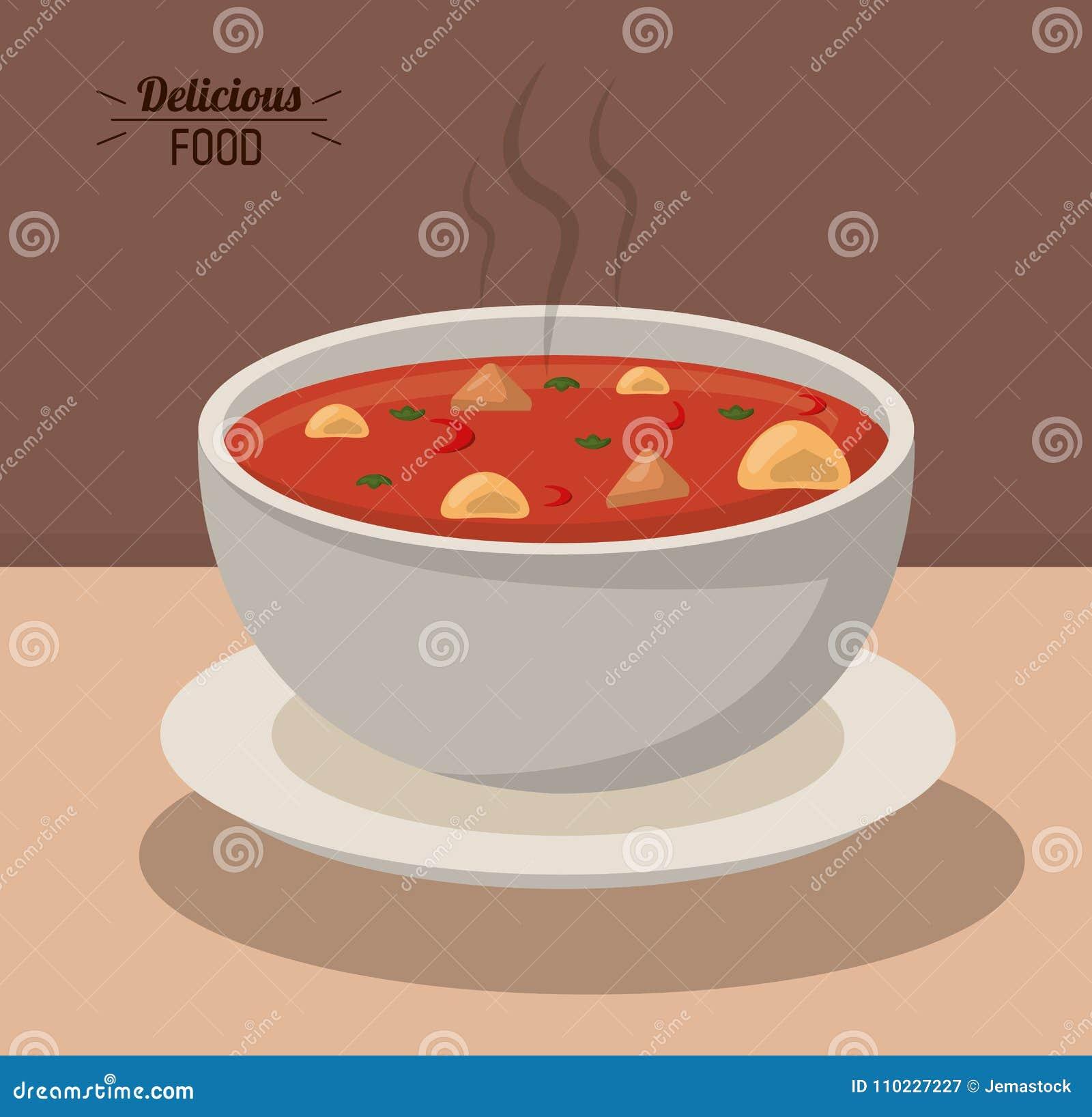 Verdura calda di nutrizione dell alimento della minestra deliziosa della ciotola