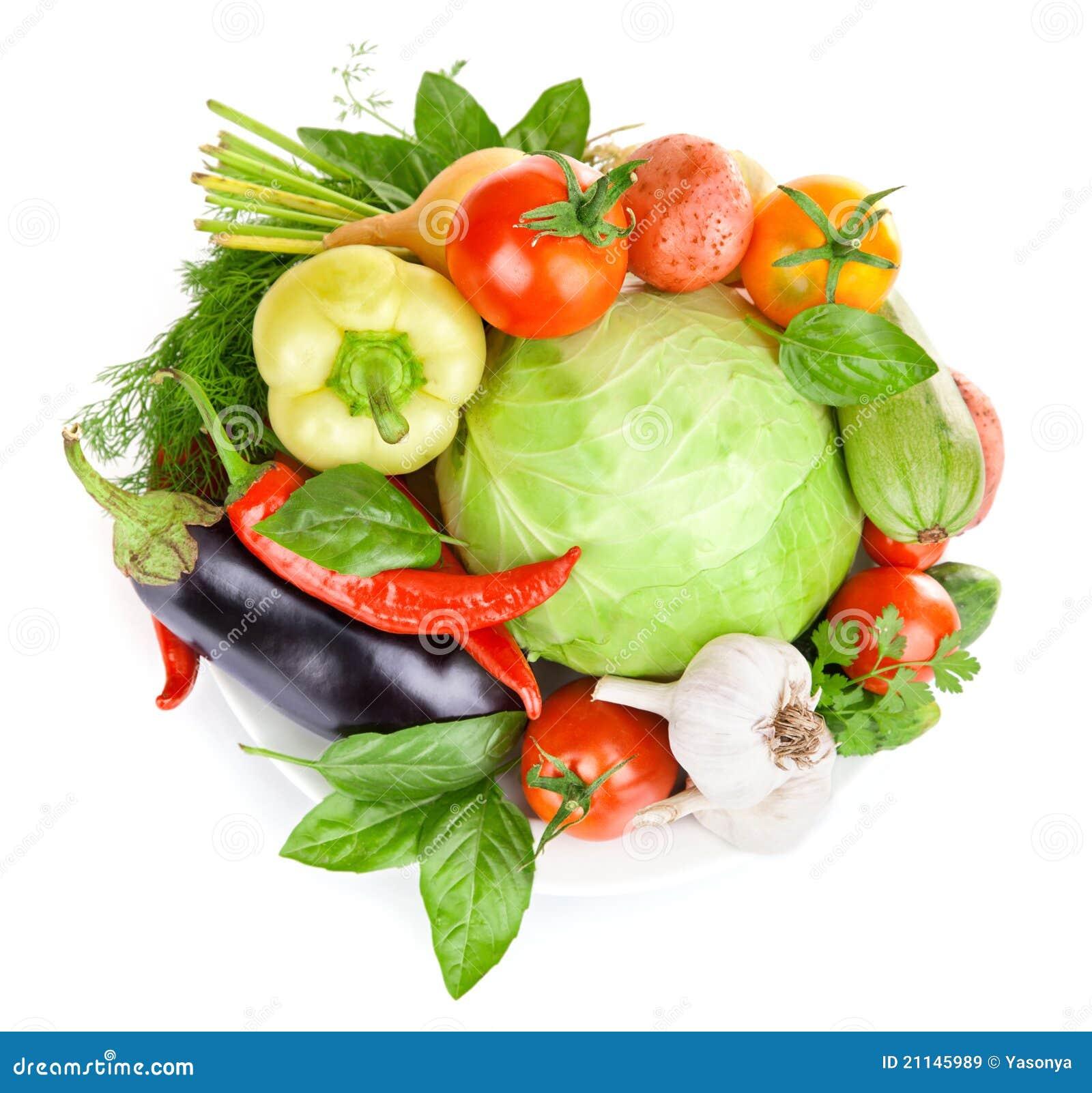 Verdura fresca con i fogli