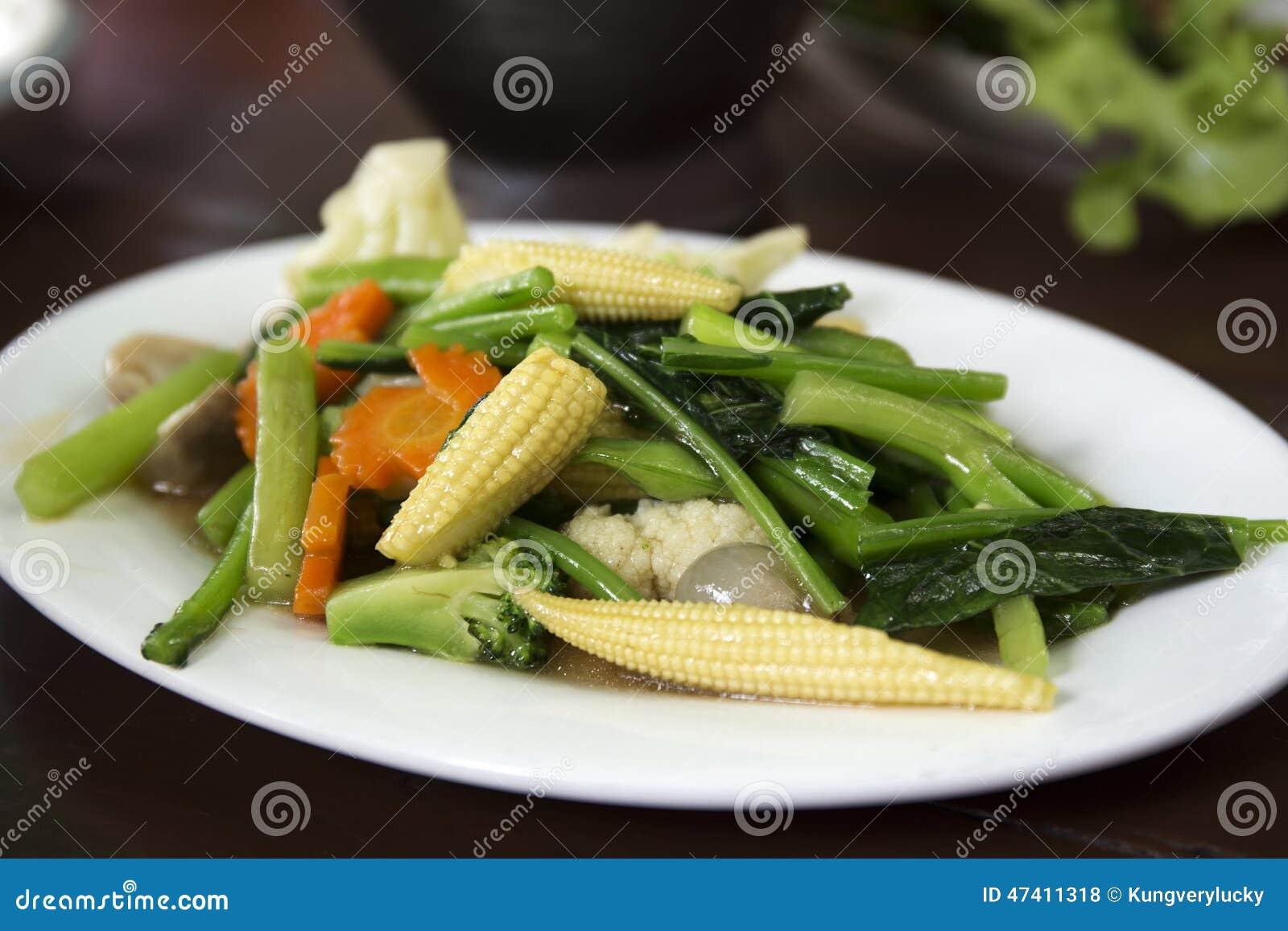 Verdura mezclada frita Stir