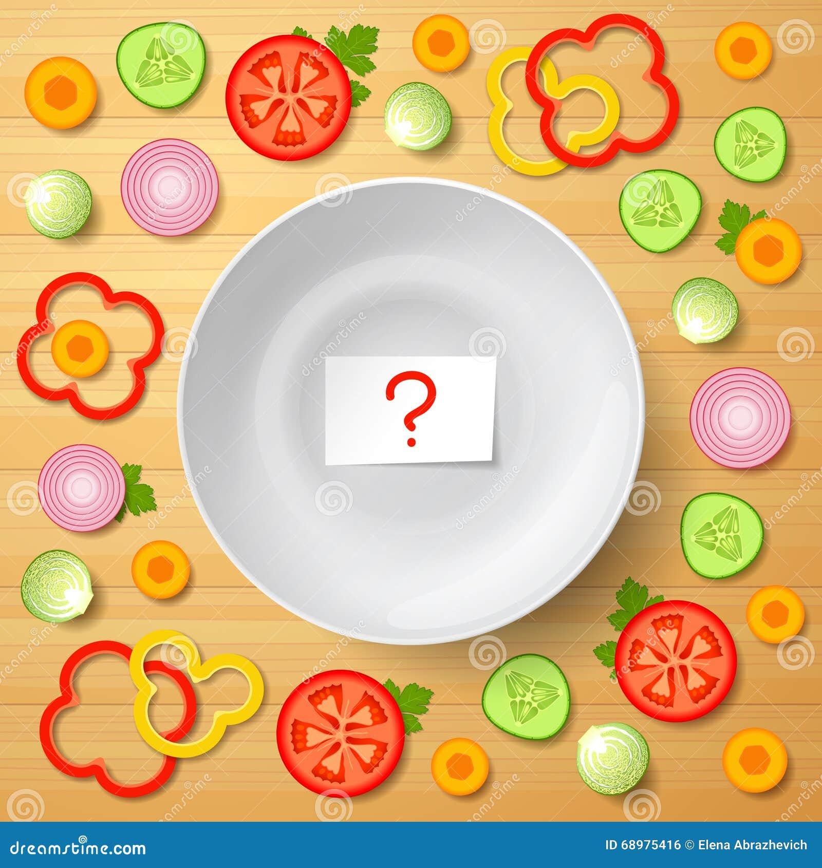Verduras clasificadas para la ensalada