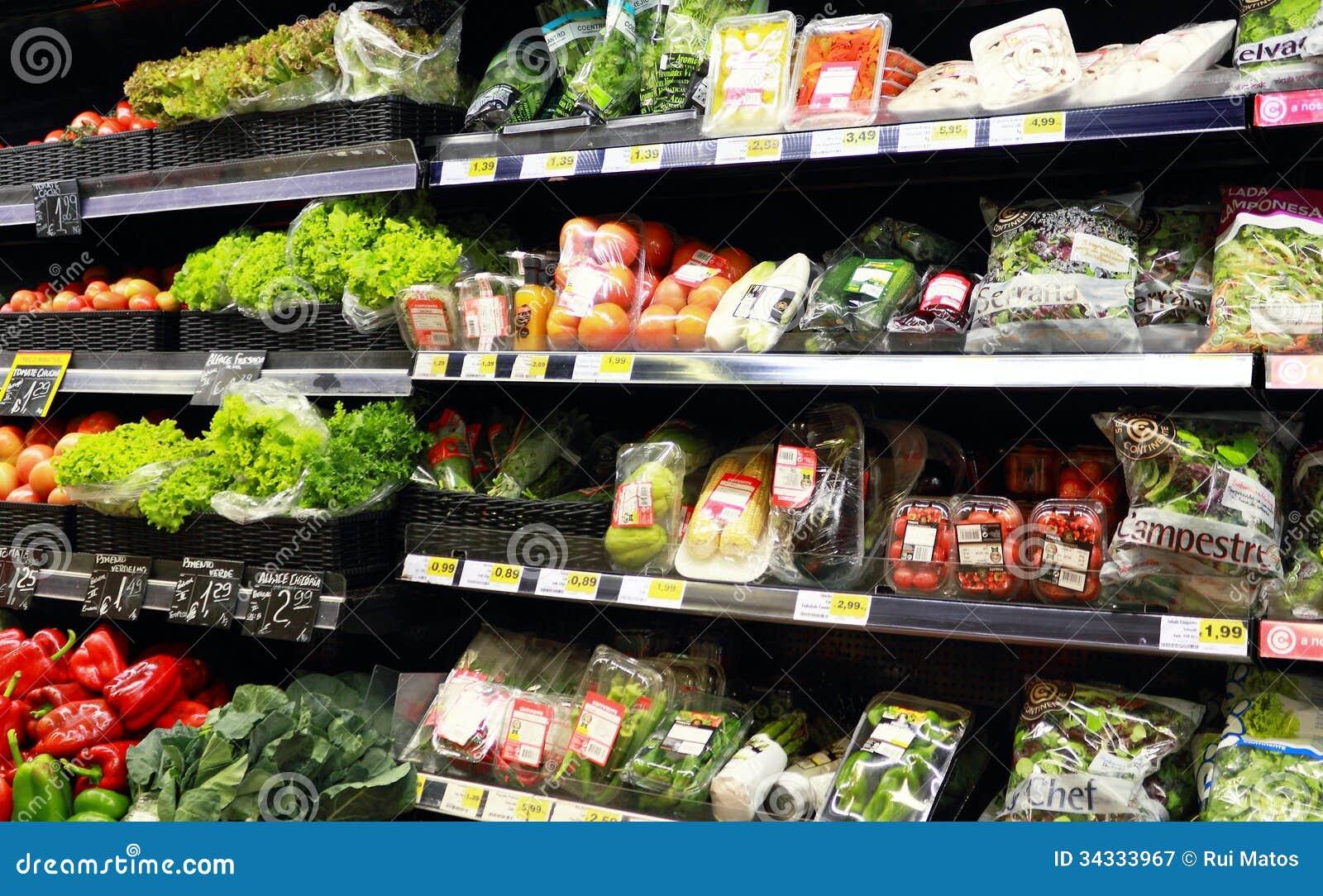 Verduras en el supermercado