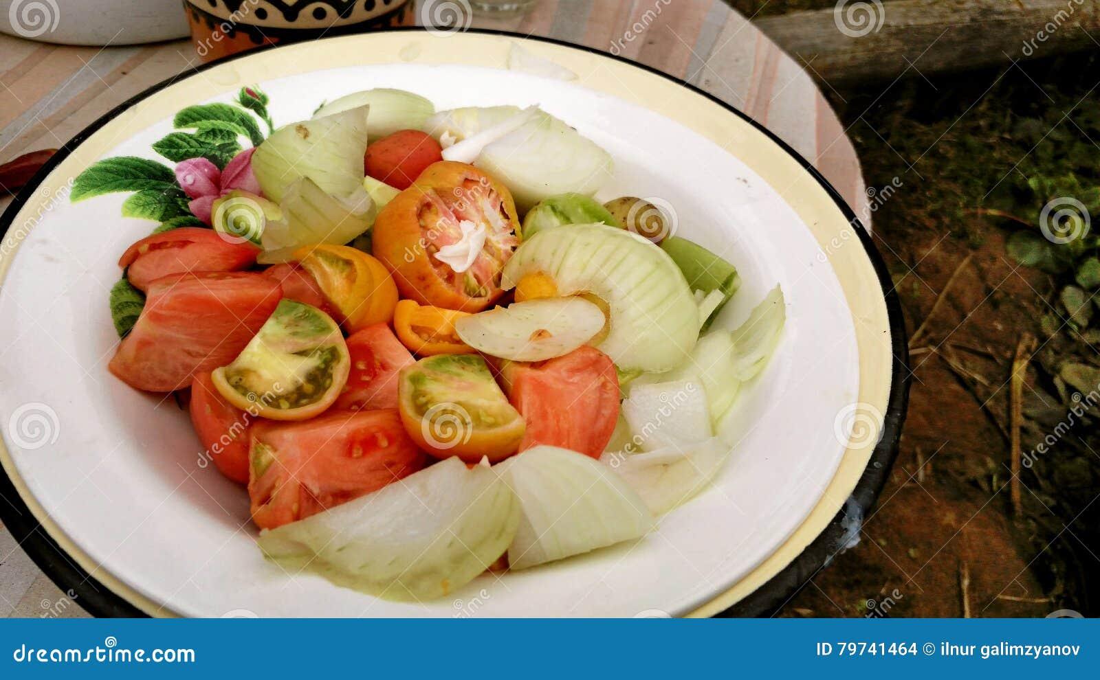 Verduras en la placa