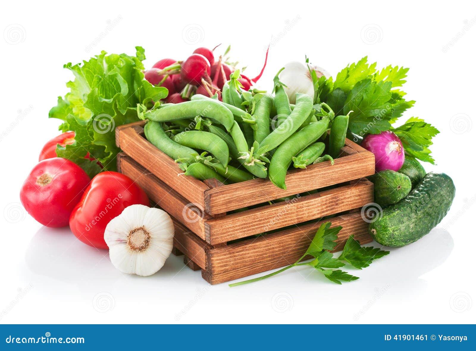 Verduras frescas con verdes