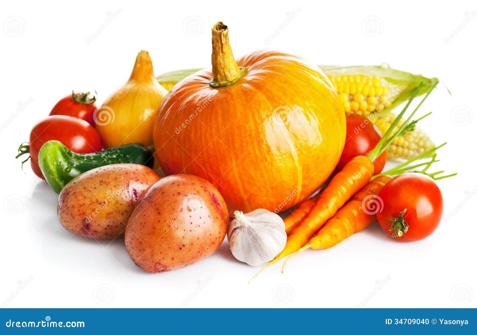 Verduras frescas de la cosecha otoñal