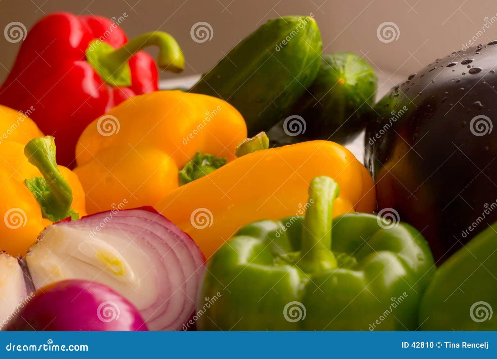 Download Verduras frescas II foto de archivo. Imagen de gotas, detalles - 42810