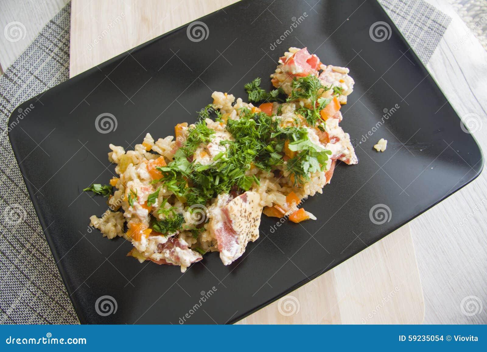 Download Verduras y arroz foto de archivo. Imagen de oriental - 59235054