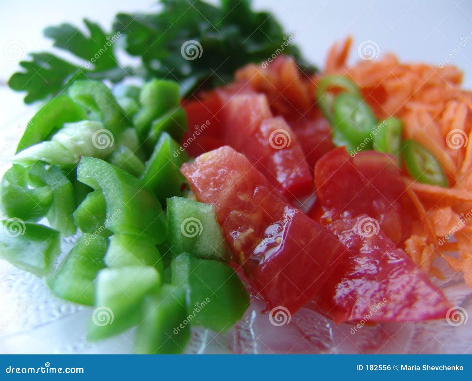 Verdure fresche del taglio