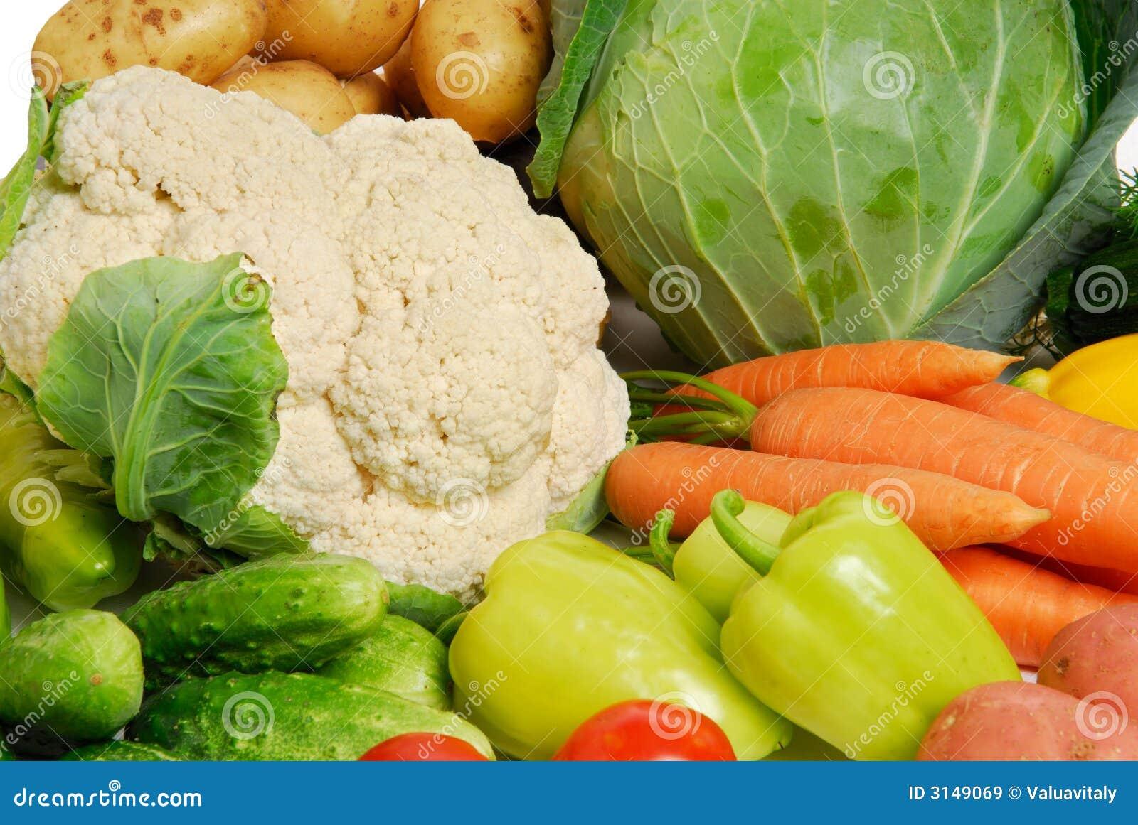 Verdure grezze fresche