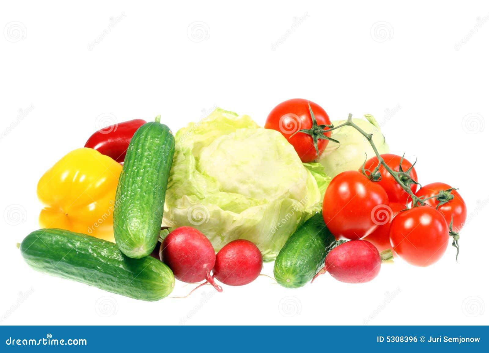 Download Verdure isolate su bianco fotografia stock. Immagine di ravanelli - 5308396