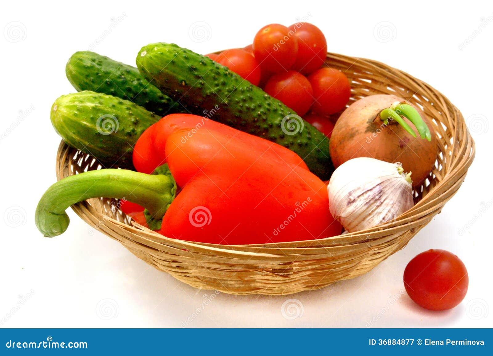 Download Verdure nel canestro immagine stock. Immagine di luce - 36884877