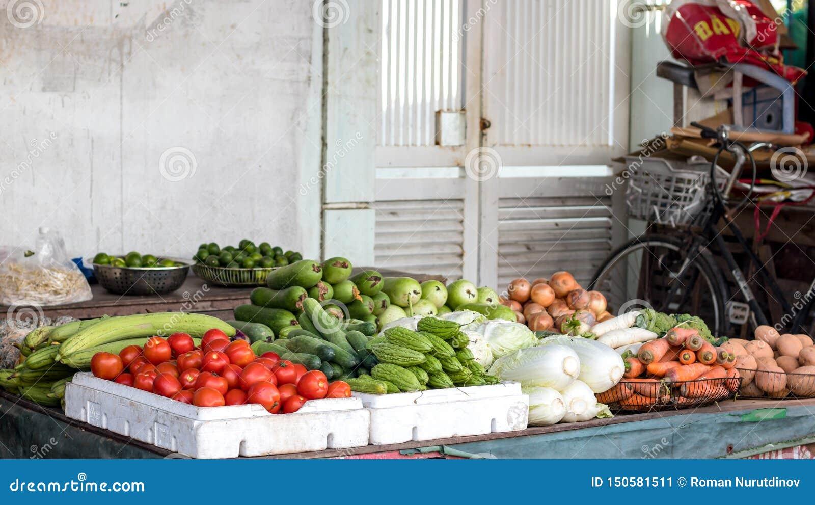 Verdure nel mercato