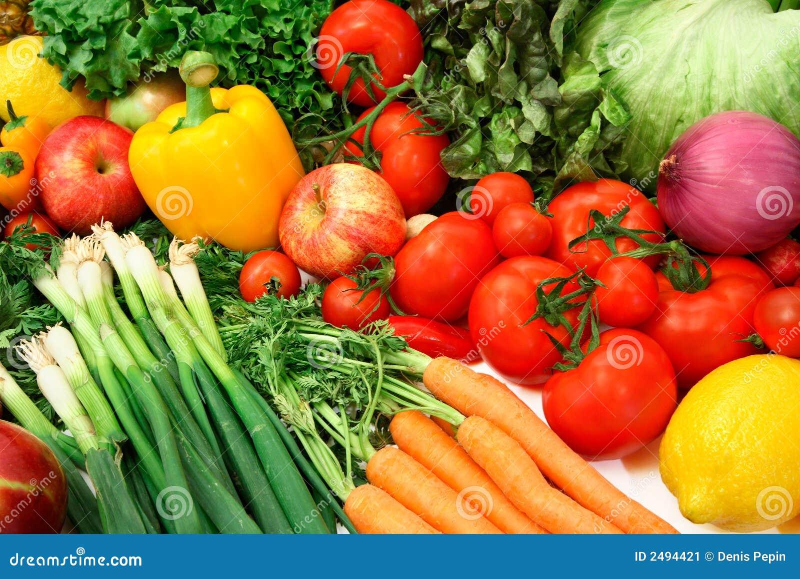 Verdure variopinte e frutta