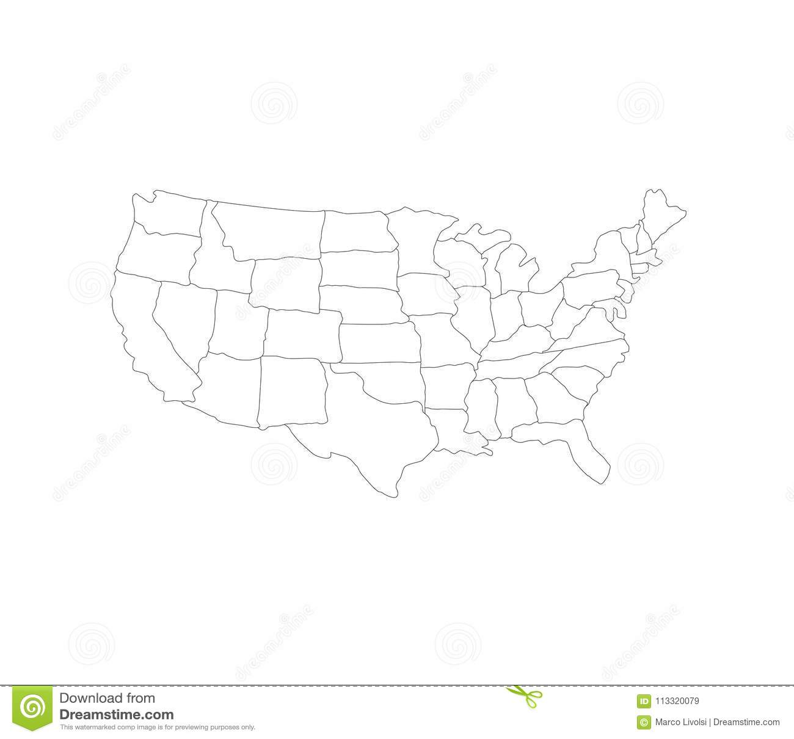 Vereinigte Staaten zeichnen mit Regionen auf
