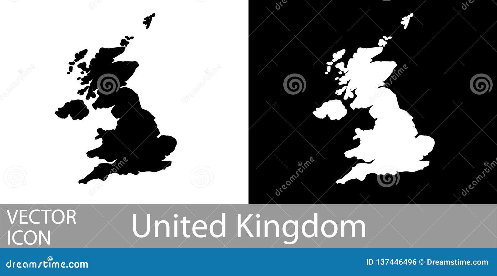Vereinigtes Königreich führte Karte einzeln auf
