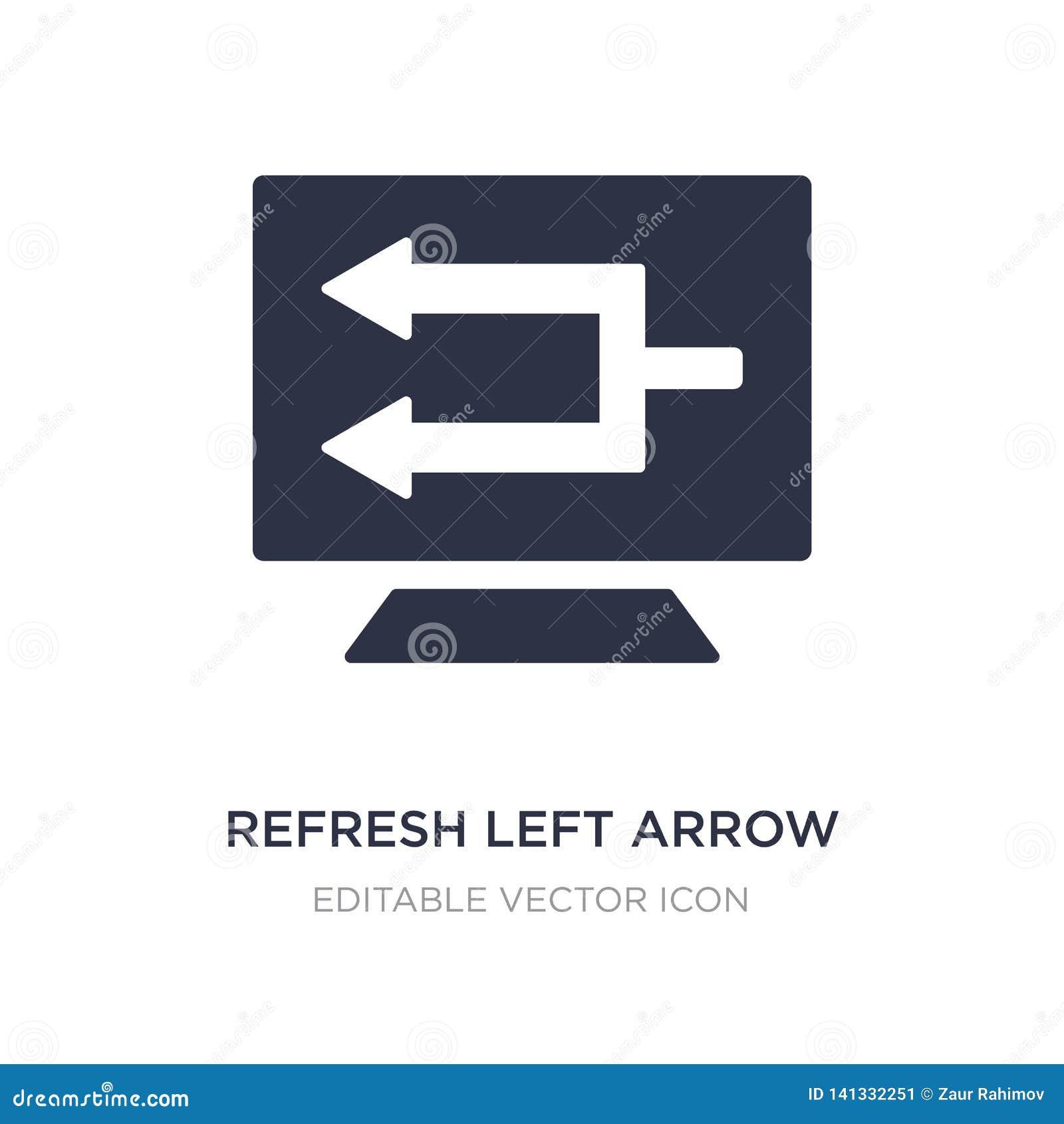 Verfris linkerpijlpictogram op witte achtergrond Eenvoudige elementenillustratie van UI-concept