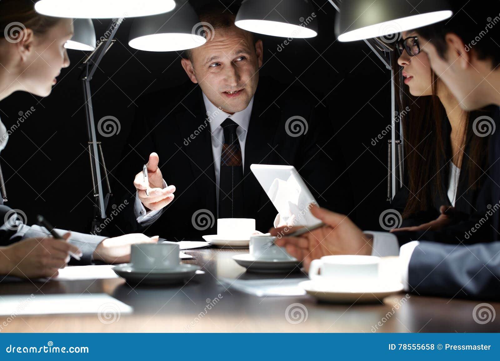 Vergadering begin dag