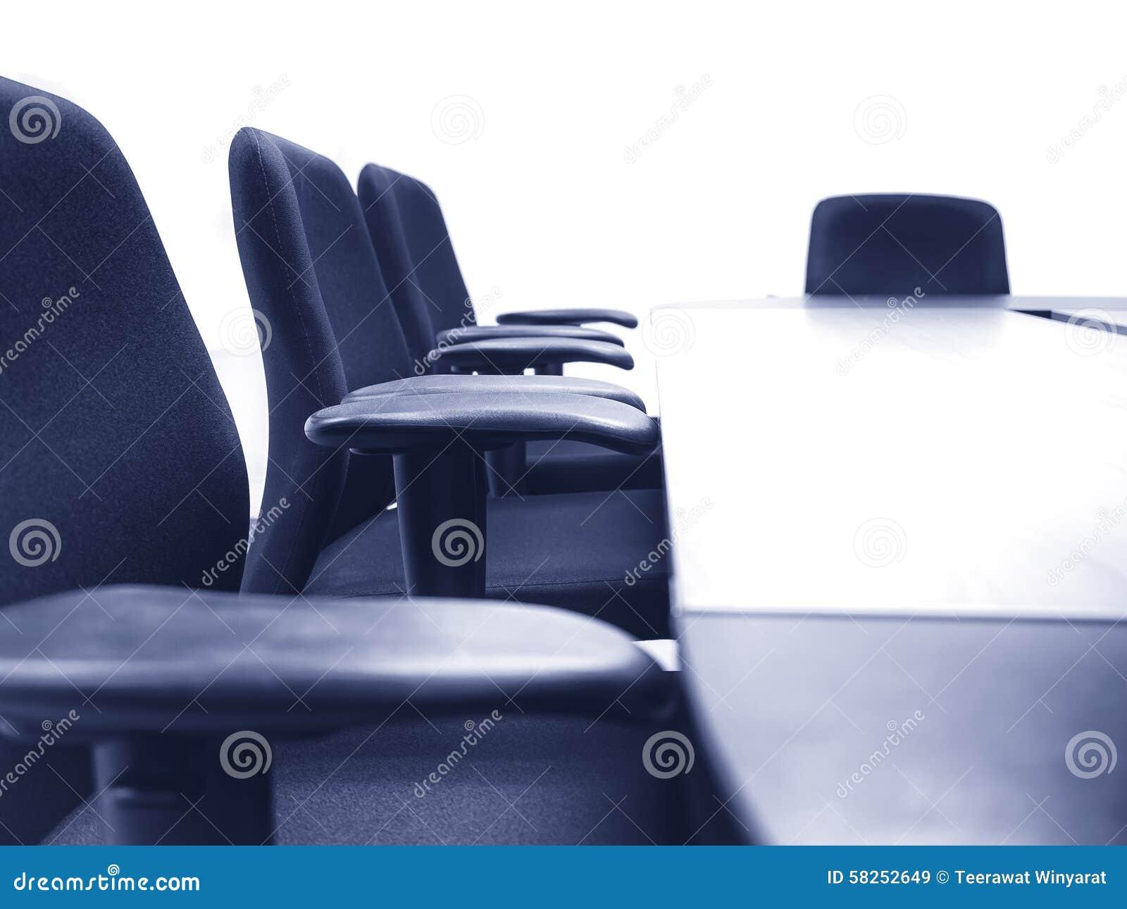 Vergaderzaal met van Bedrijfs lijstzetels concept