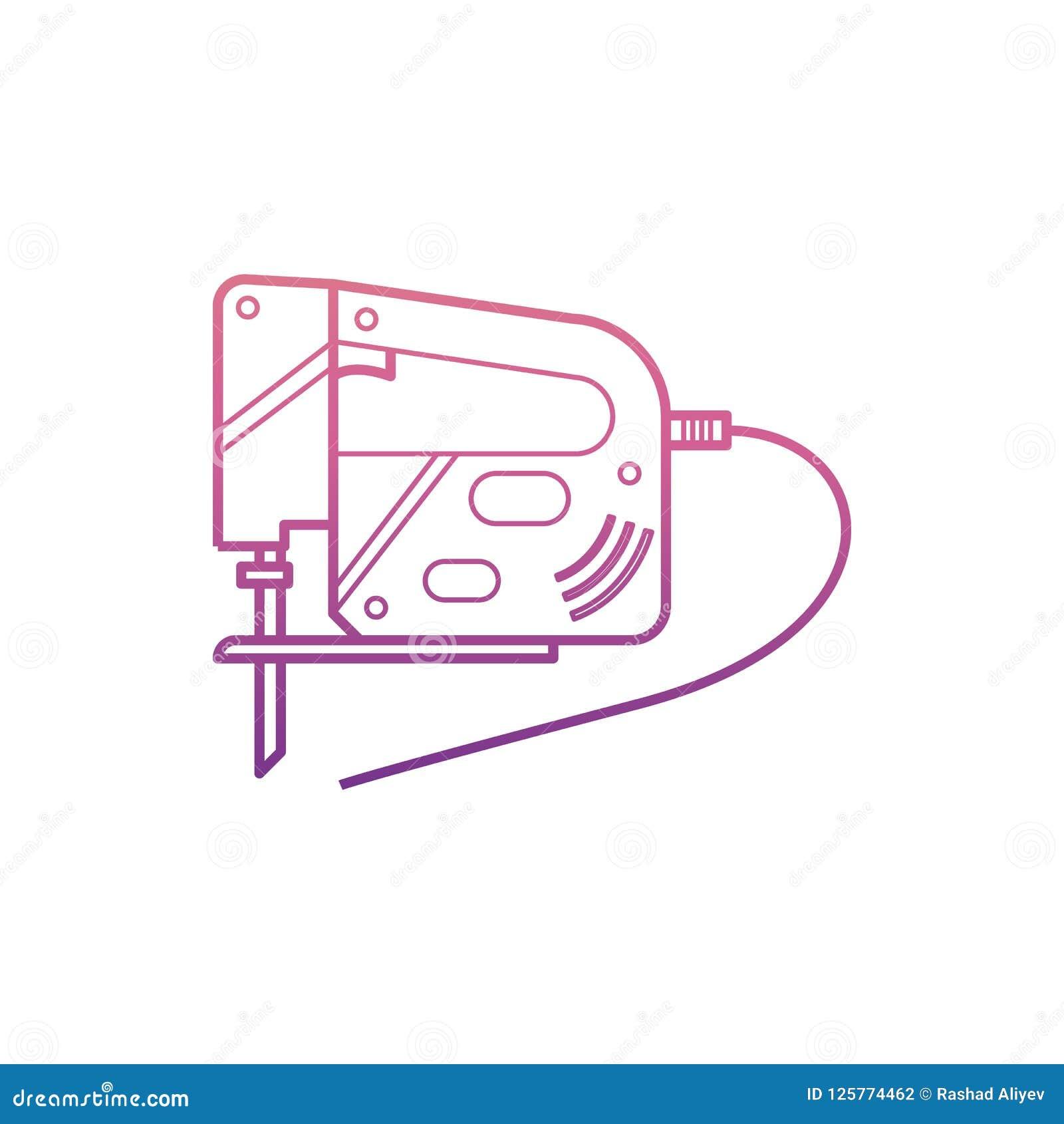 Vergeldend Zaagpictogram in Nolan-stijl Één van het pictogram van de het hulpmiddelinzameling van de Huisreparatie kan voor UI, U