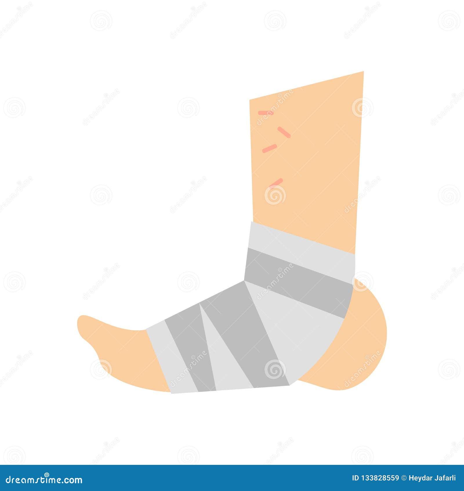 Vergipstes Fußikonenvektorzeichen und -symbol lokalisiert auf weißem BAC