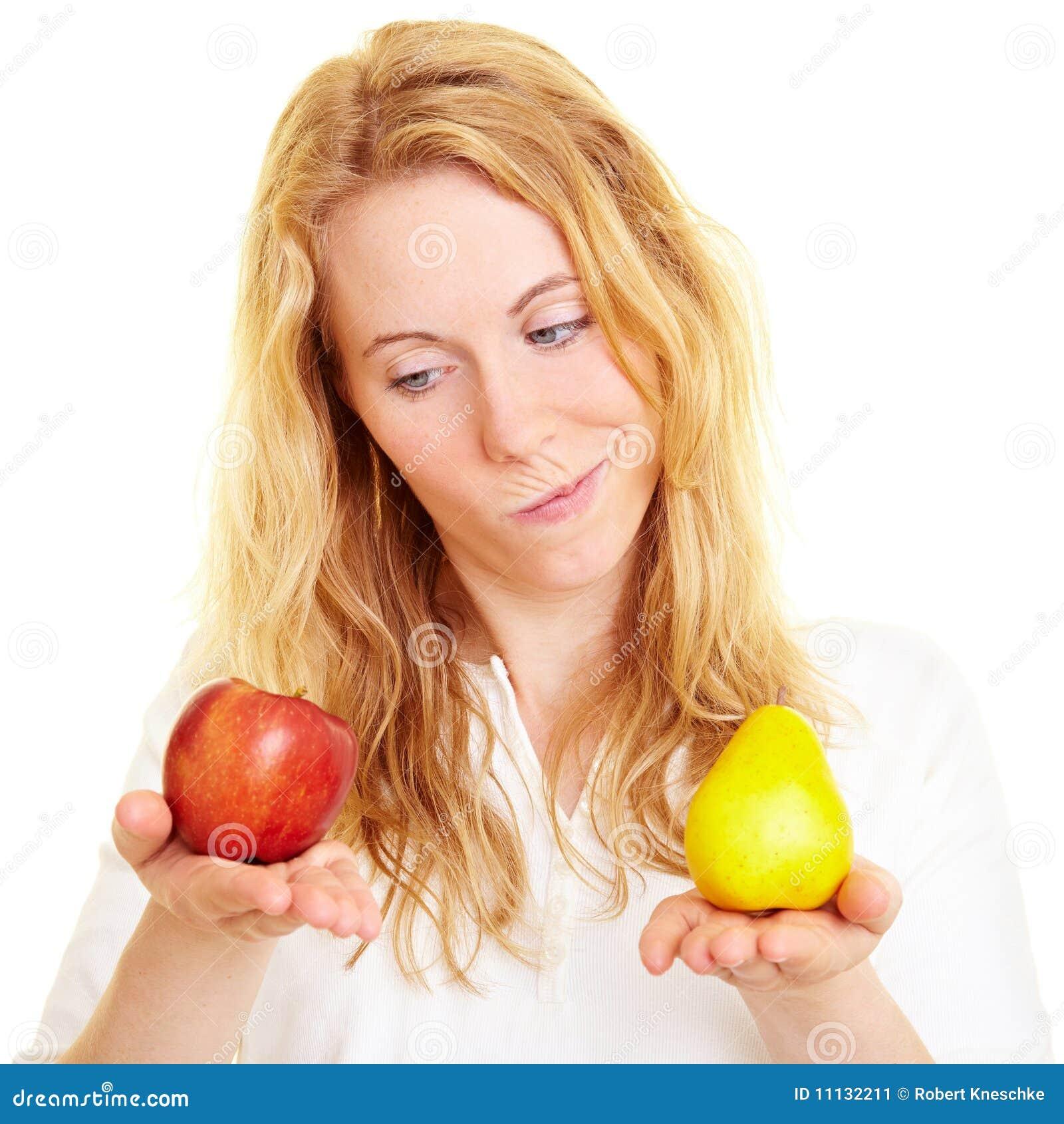Vergleichen der Früchte
