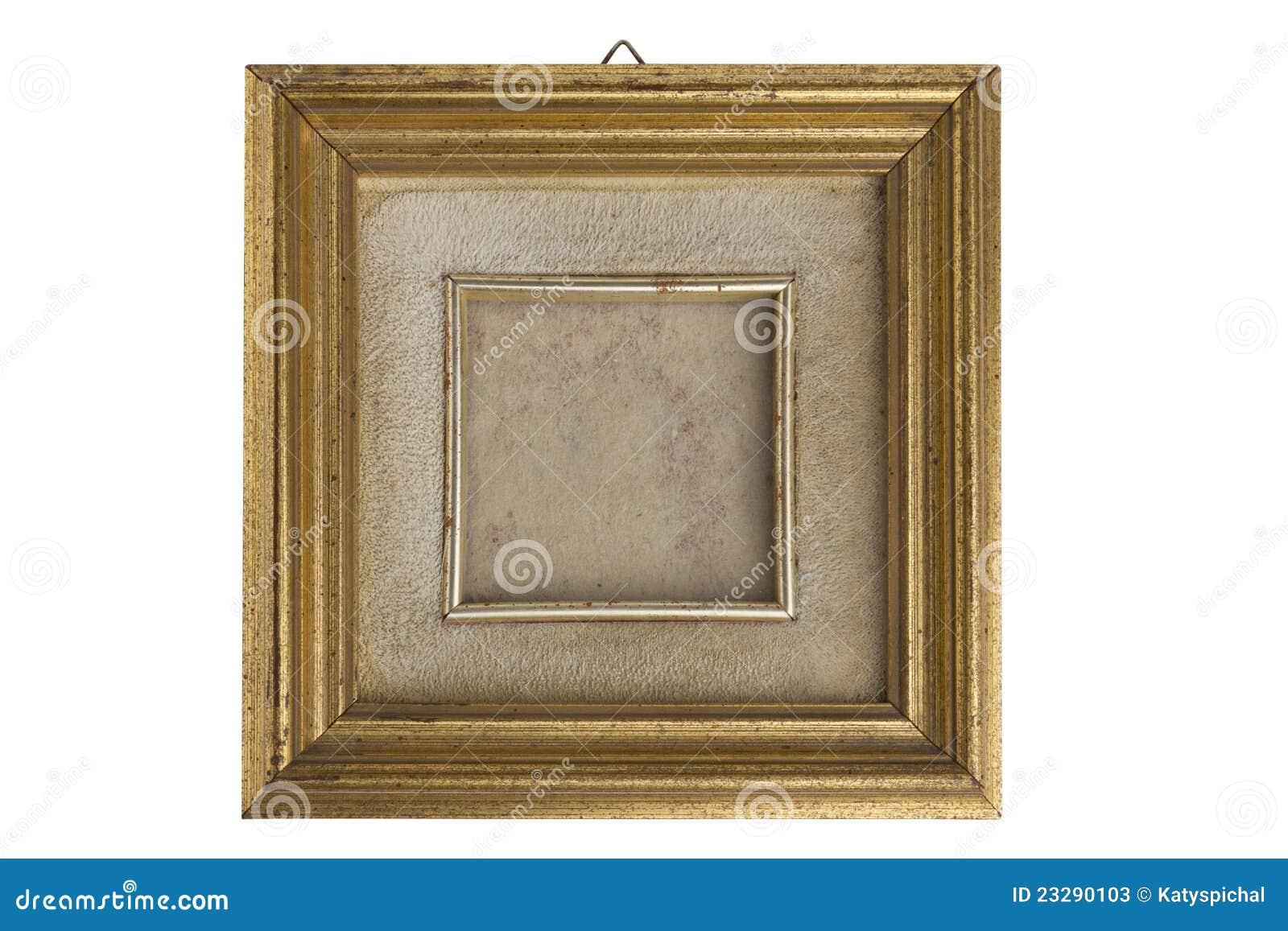Vergoldeter Bilderrahmen stock abbildung. Illustration von deco ...