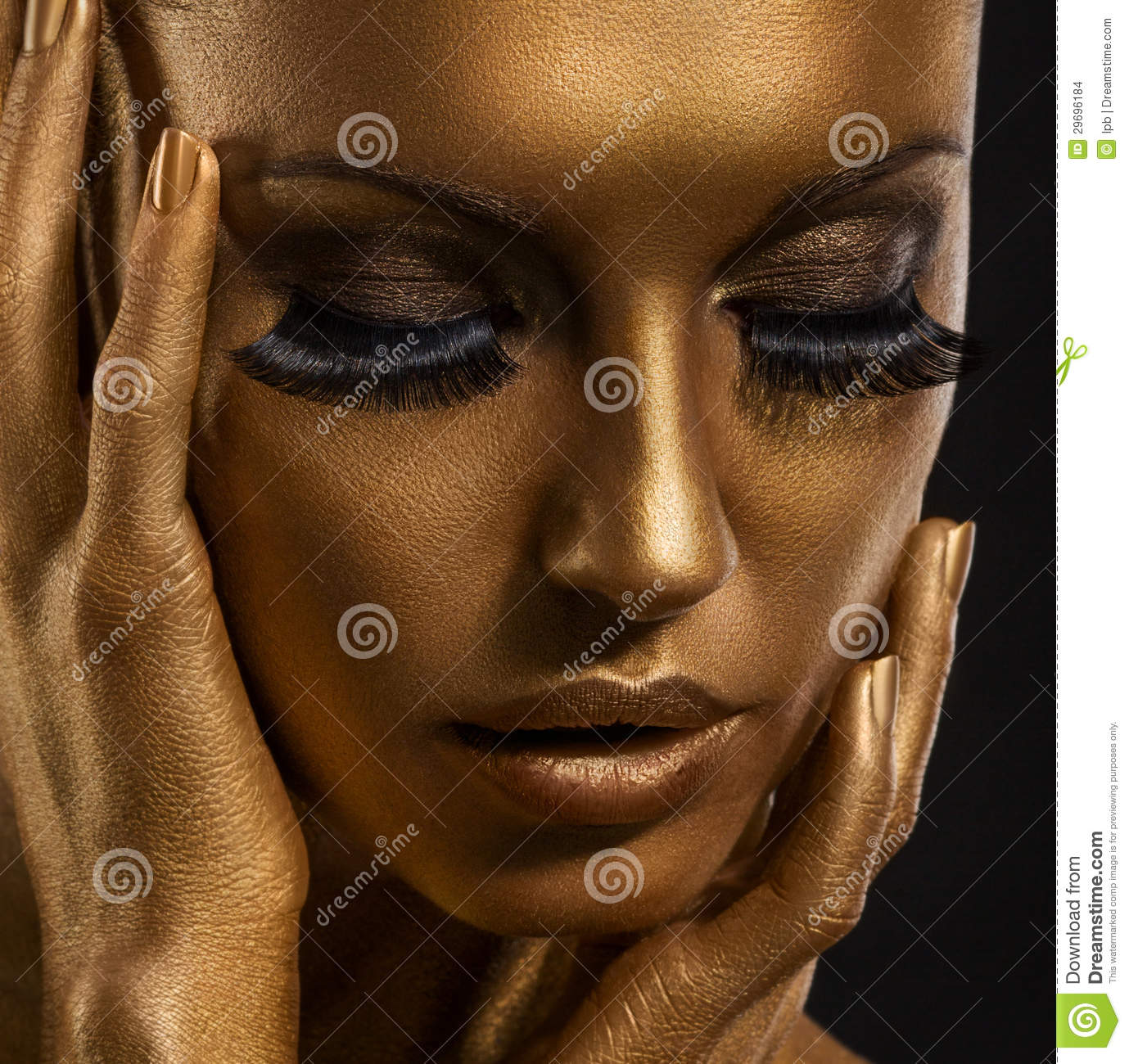 Black And Gold Face Painting