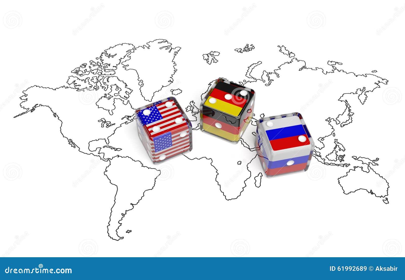 verhandlung zwischen usa deutschland und russland stock abbildung illustration von karte. Black Bedroom Furniture Sets. Home Design Ideas
