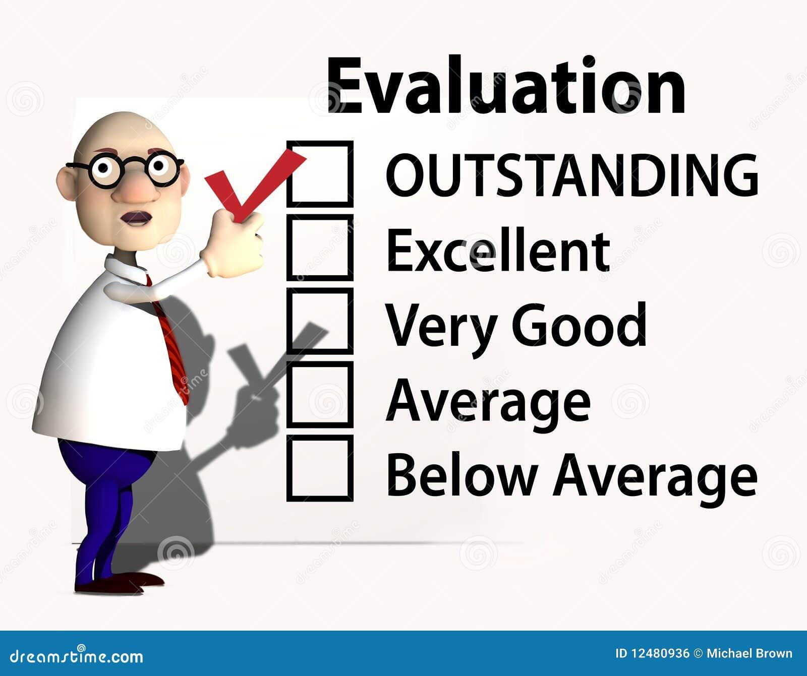 Verificación de la evaluación del inspector del profesor de la protuberancia