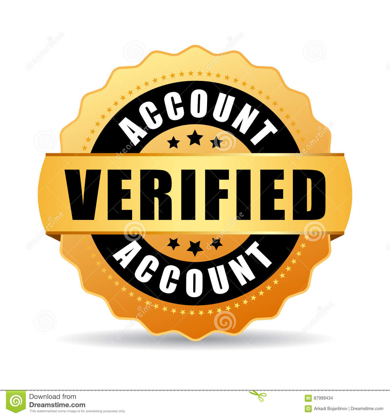 Verified Account Vector Icon Stock Vector Illustration Of Icon
