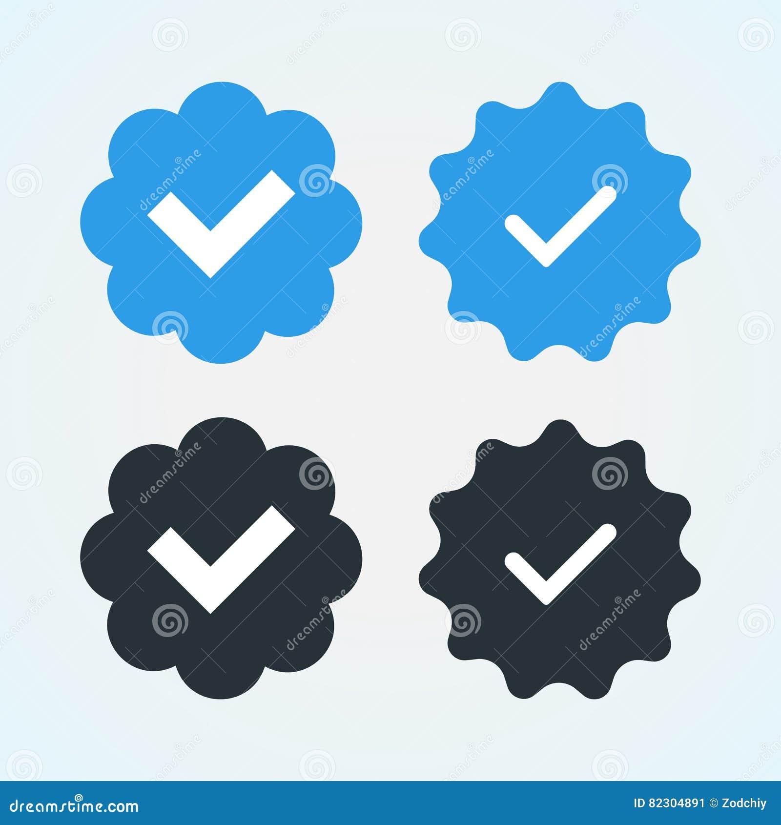 Verified-badges stock vector  Illustration of reaffirm - 82304891