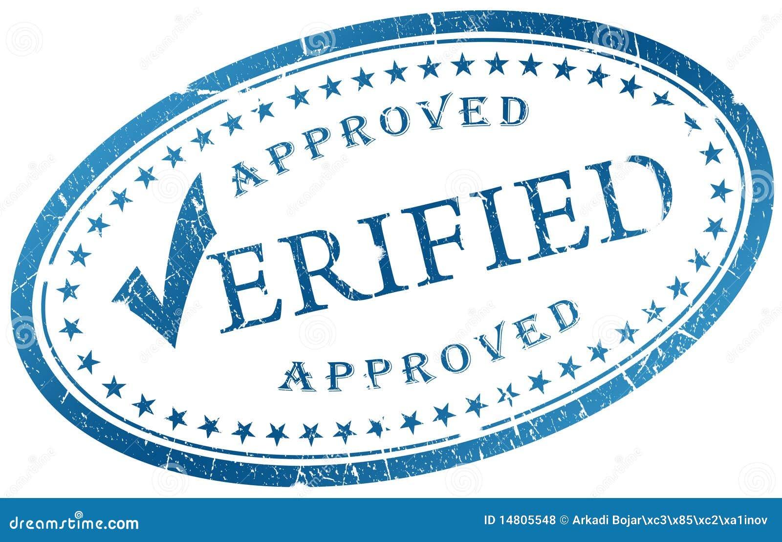 Verified stamp