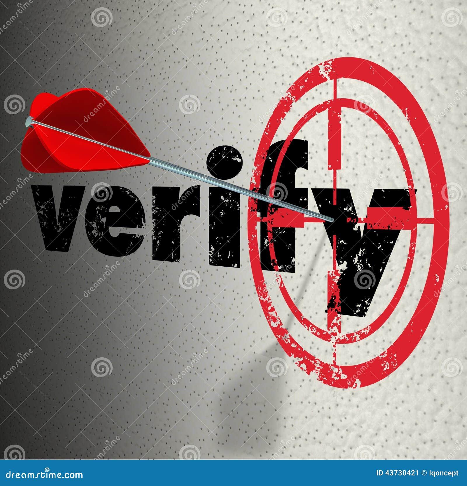 Verifiera att målet för ögat för ordpiltjurar bekräftar intygar