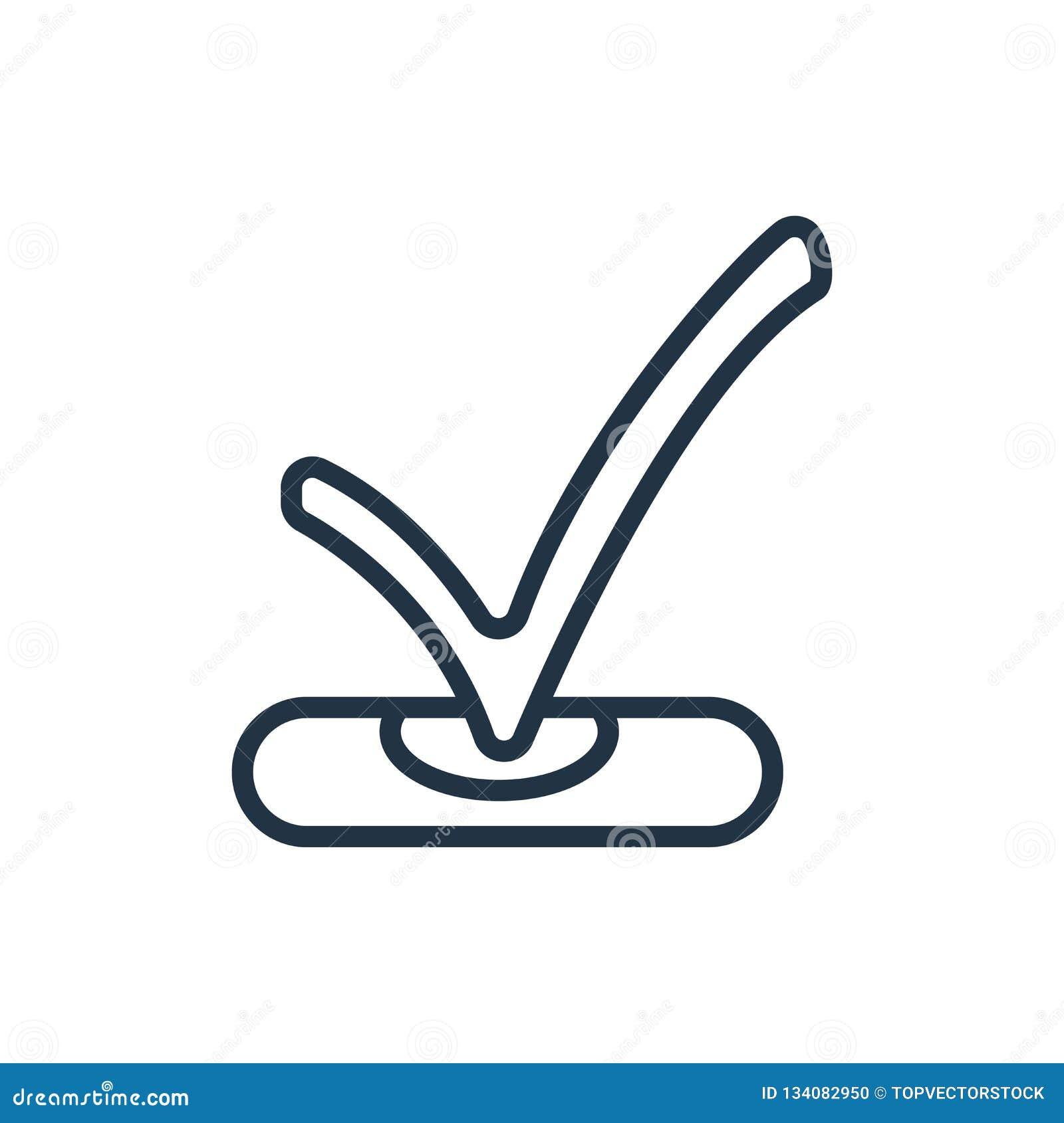 Verifique o vetor do ícone isolado no fundo branco, verifique o sinal