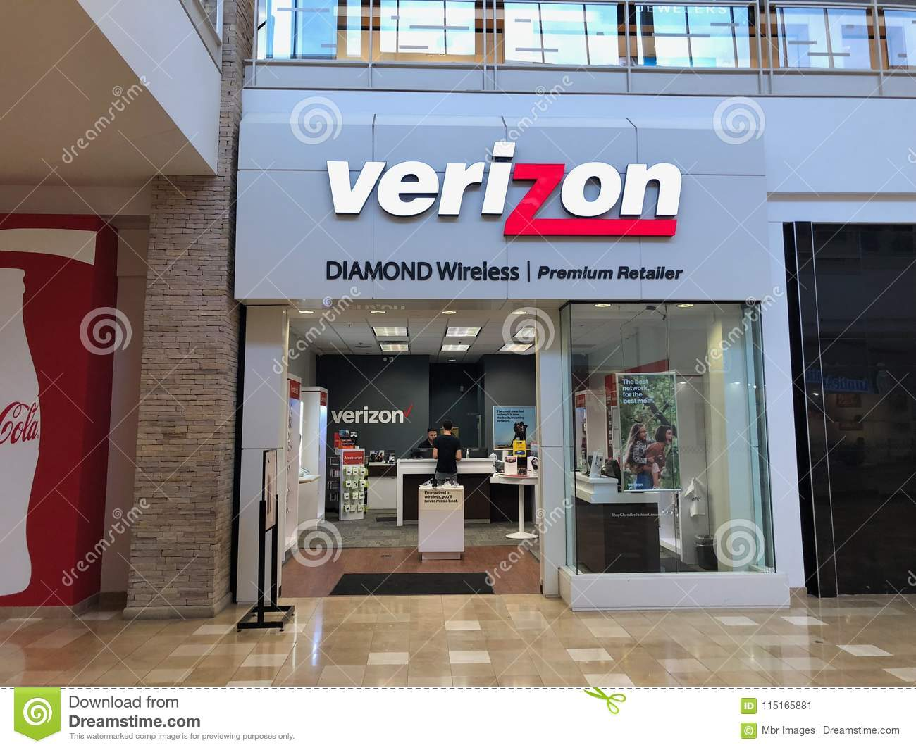 Verizon Wireless almacena el frente en el cerero Arizona Shopping Mall