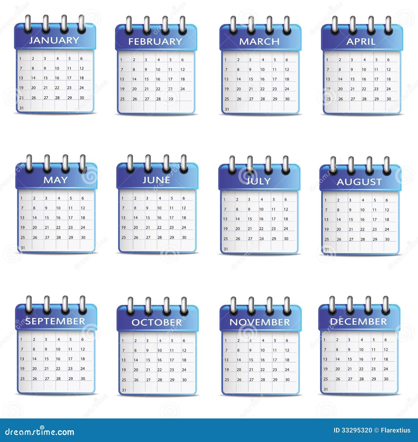 Verjaardagskalender Stock Foto Afbeelding 33295320